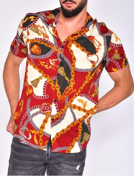Chemise à motif chaine