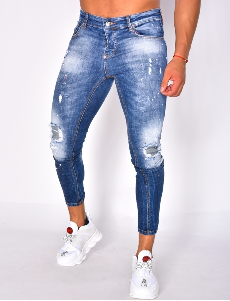 Ripped Jeans with Marks