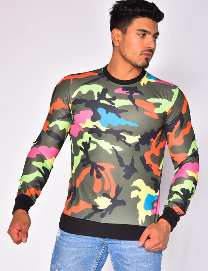 Sweat camouflage multicolore