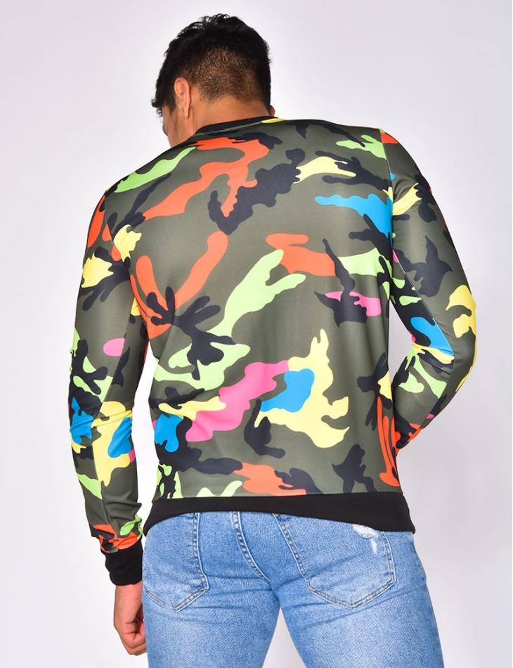 Multi-coloured Camouflage Sweatshirt
