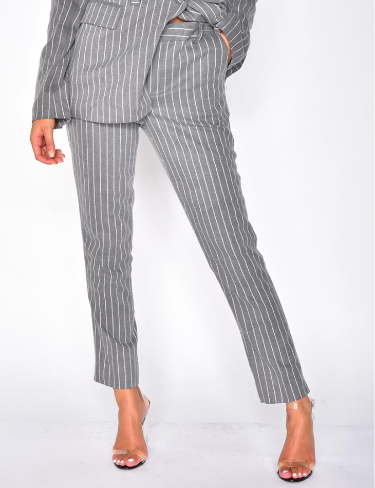 Pantalon premium à rayures