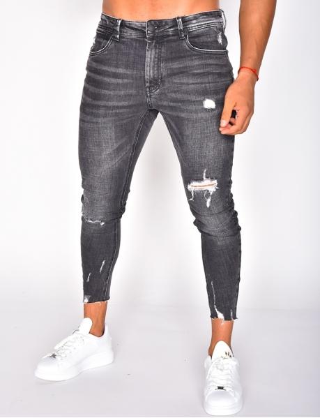 Ausgewaschene Jeans, destroy