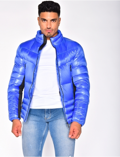 Bi Material Padded Jacket