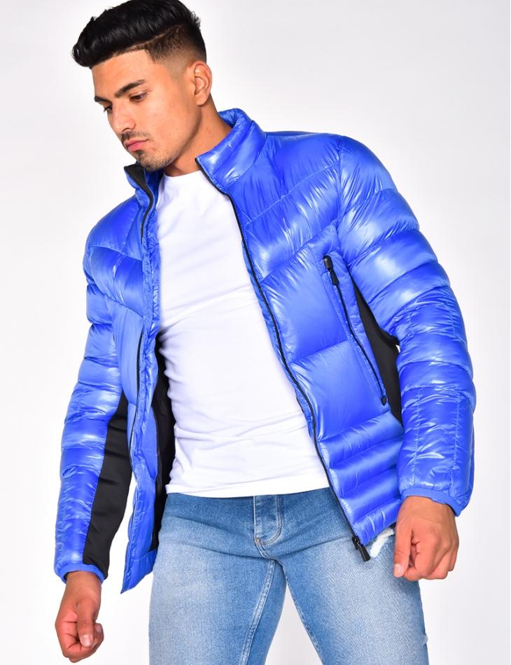 Bi Material Padded Jacket