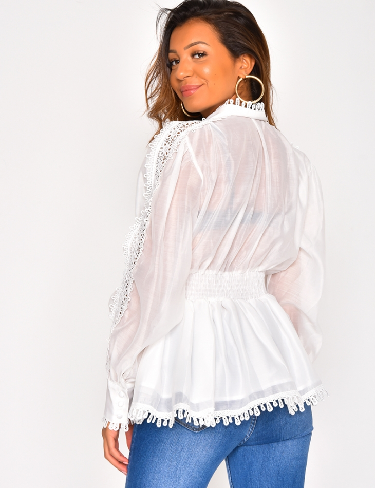 Premium Blouse with Lace