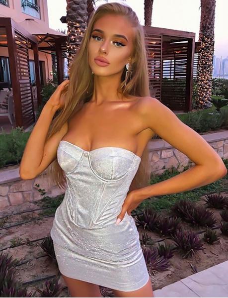 Glittery Bustier Dress