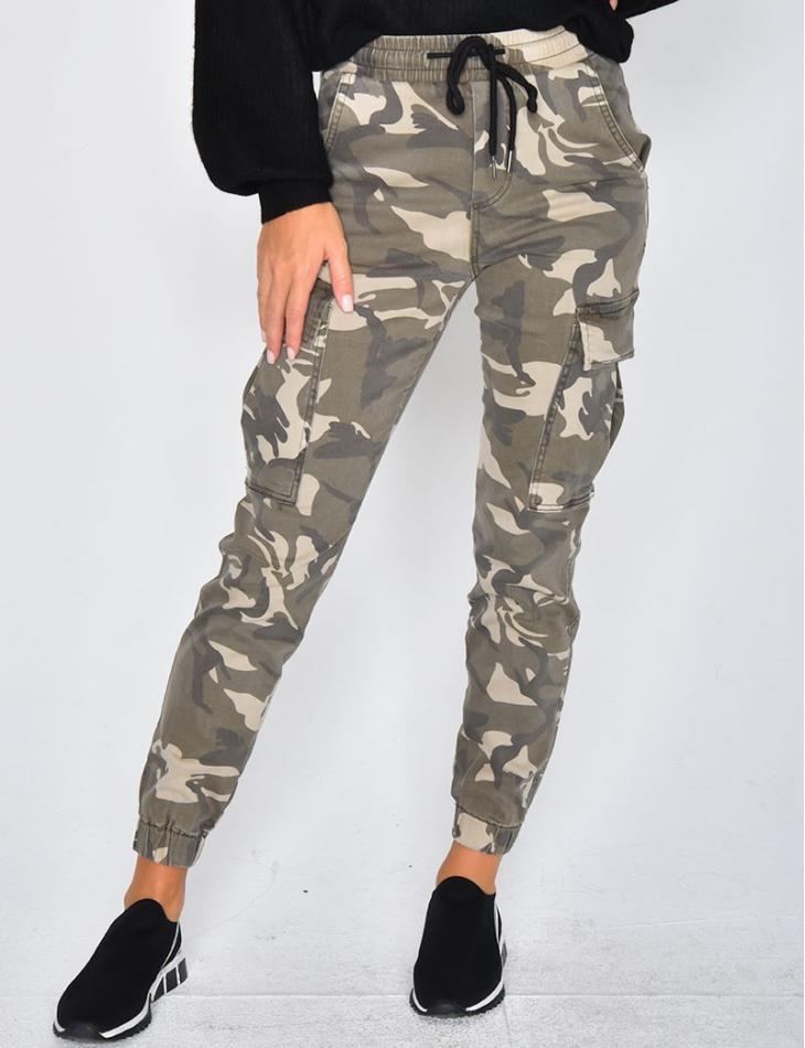 Camouflage Denim Joggers