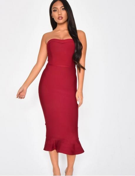 PREMIUM Mid-Length Bustier Bandage Dress