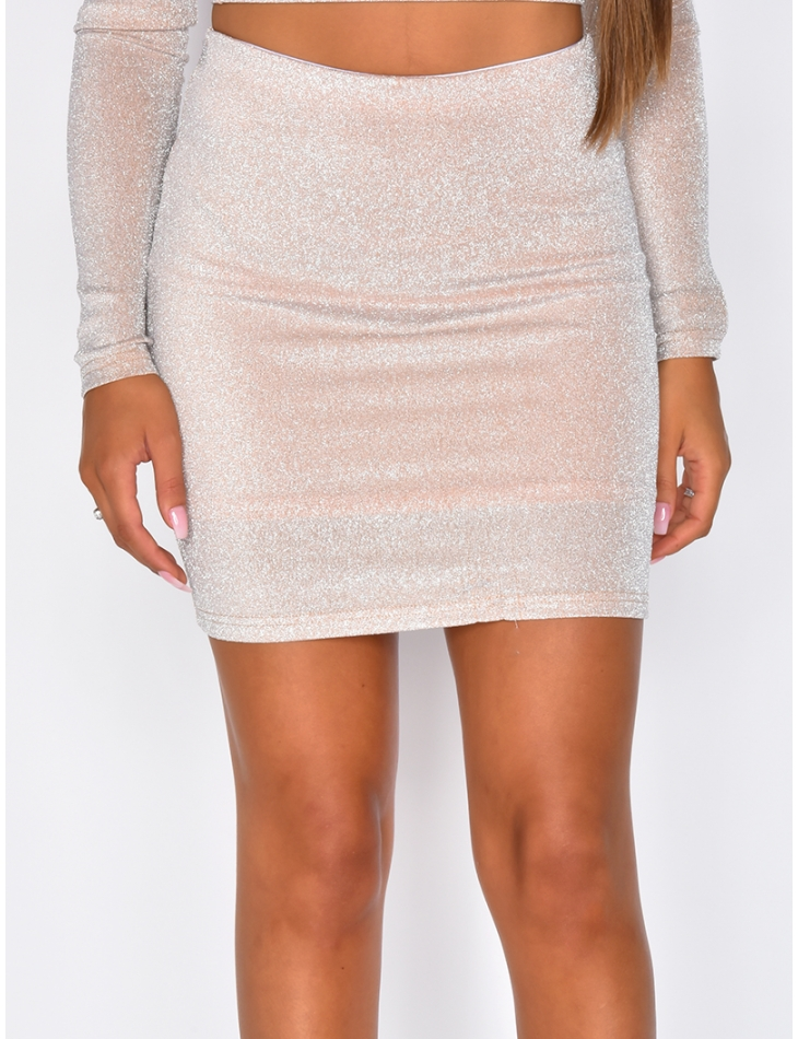 Glittery Mini Skirt
