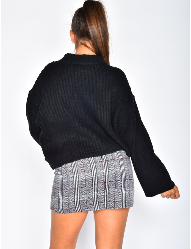 Super Soft Short Ribbed Jumper