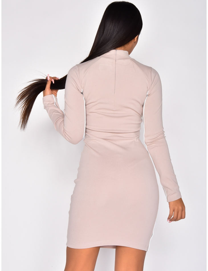 'Sixth June' Bodycon Dress with Reflective Stripes
