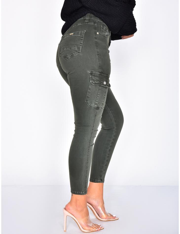 High Waisted Cargo Jeans