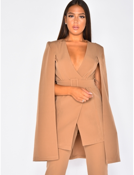Cape Blazer with Belt