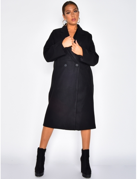 Manteau long chiné
