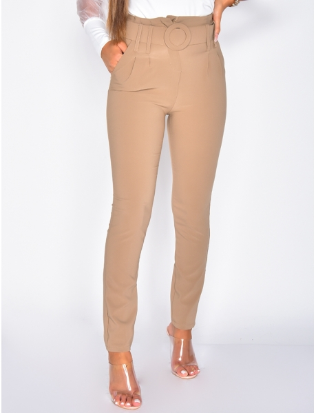 Suit Trousers with Belt