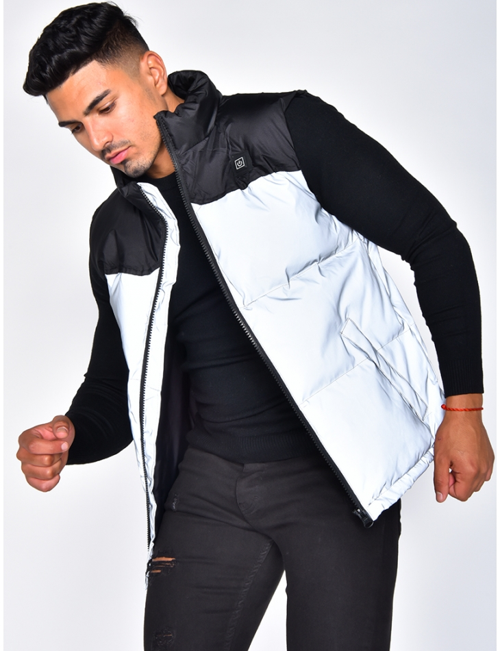 Reflective Two-Tone Thermal Padded Jacket