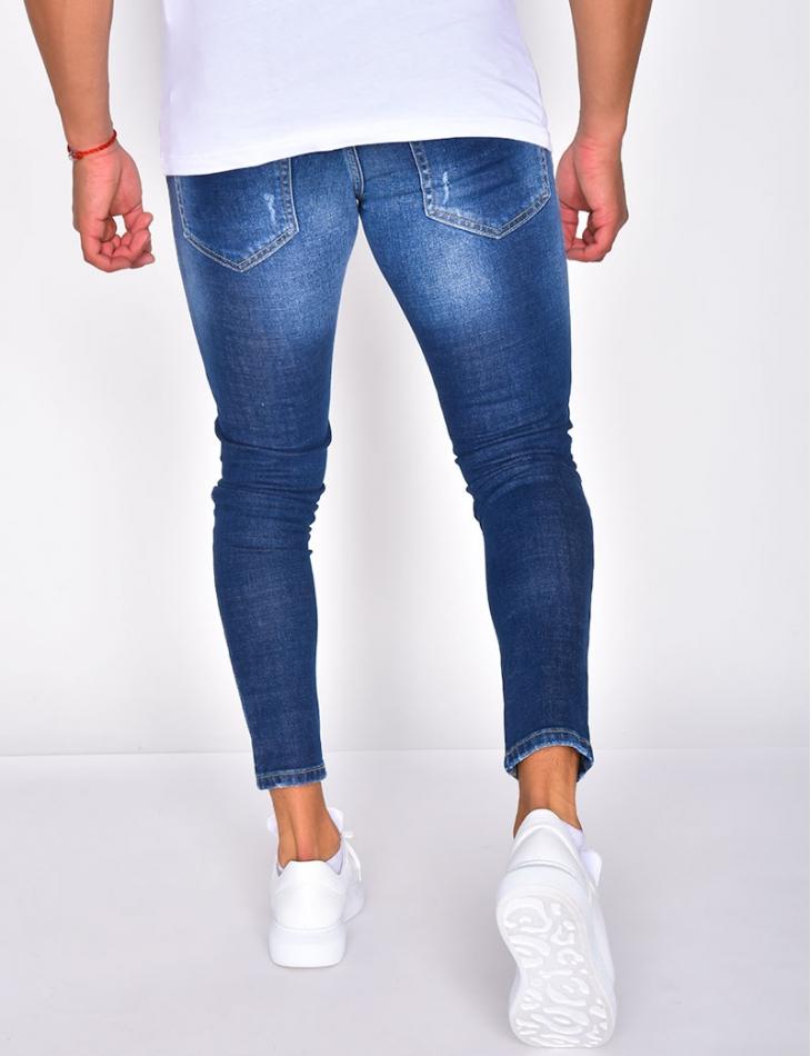 Jeans à taches