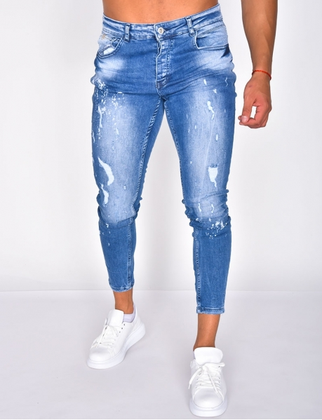 Ripped Speckled Jeans