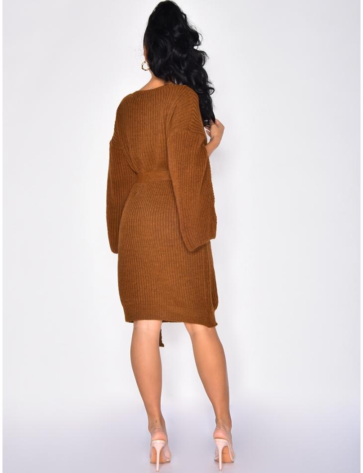 Wool Dress with Belt