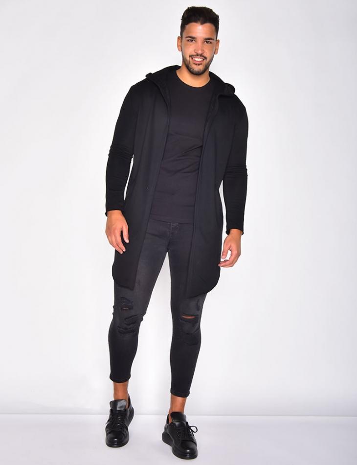 Asymmetric Jacket with Hood