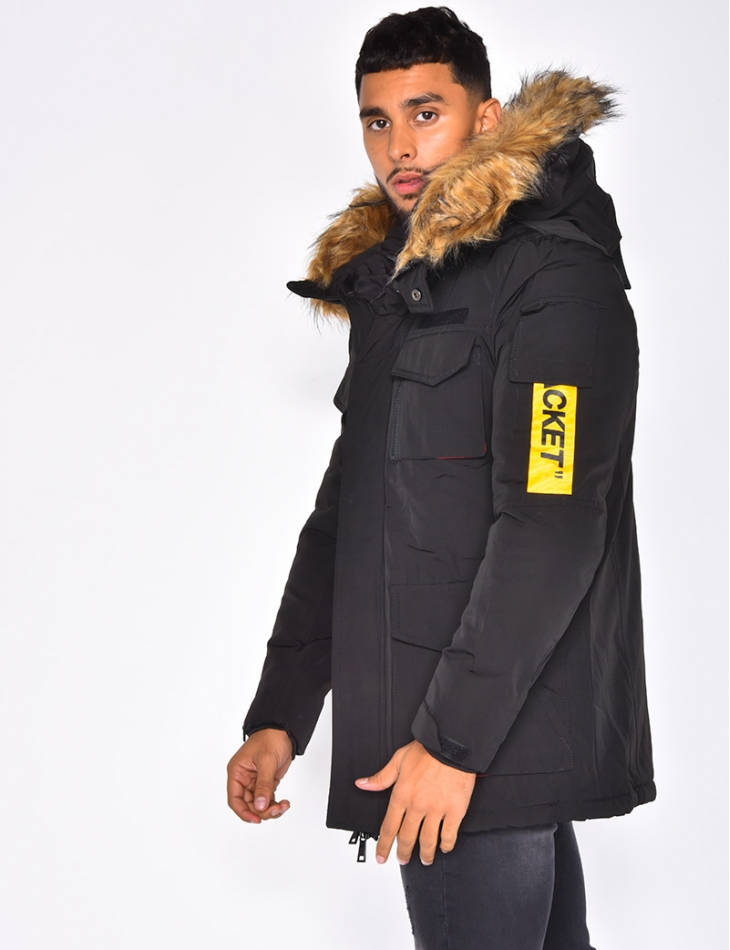 Parka with Pockets and Fur Hood