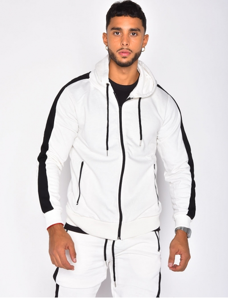 Jogging Jacket with Stripes