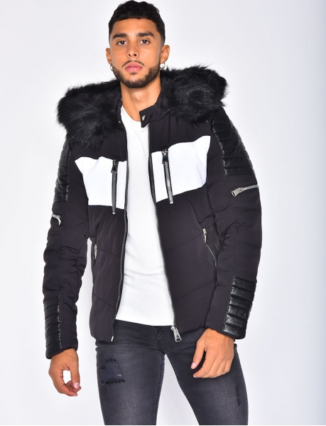 Black Fur Padded Jacket