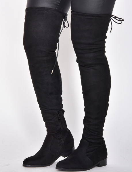 Suedette Thigh High Boots