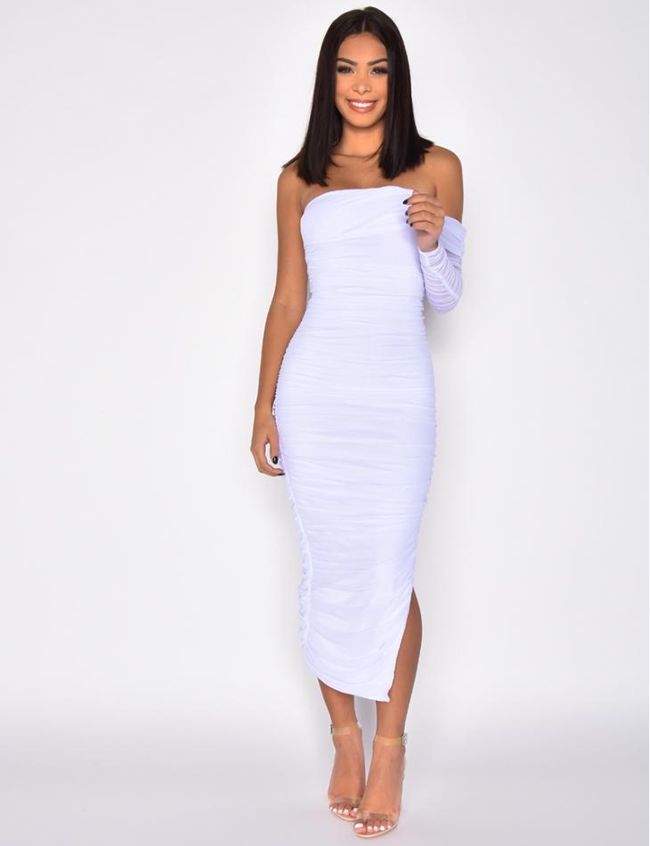 Asymmetric Tulle Dress