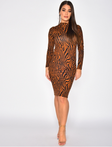 Zebra Bodycon Dress