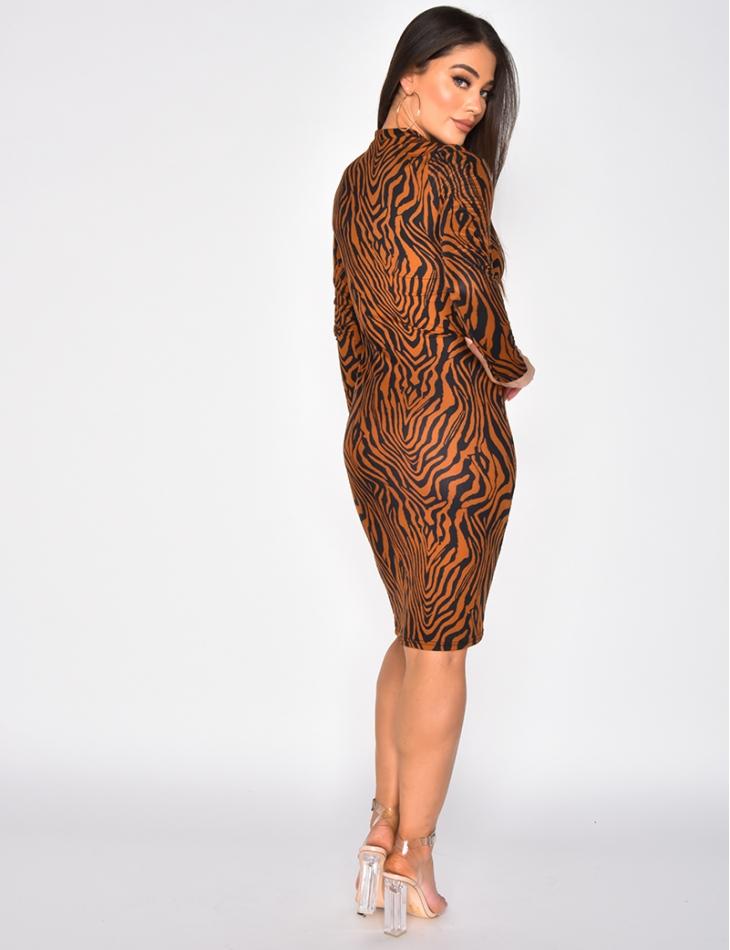 Zebra Bodycon Dress