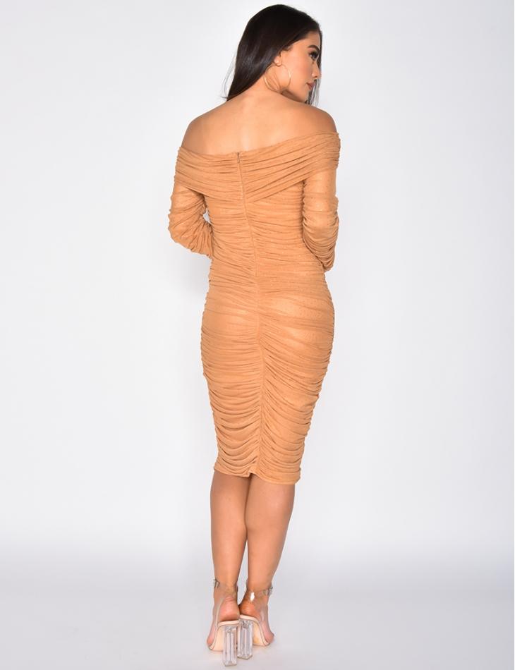 Drape Dress with Studs