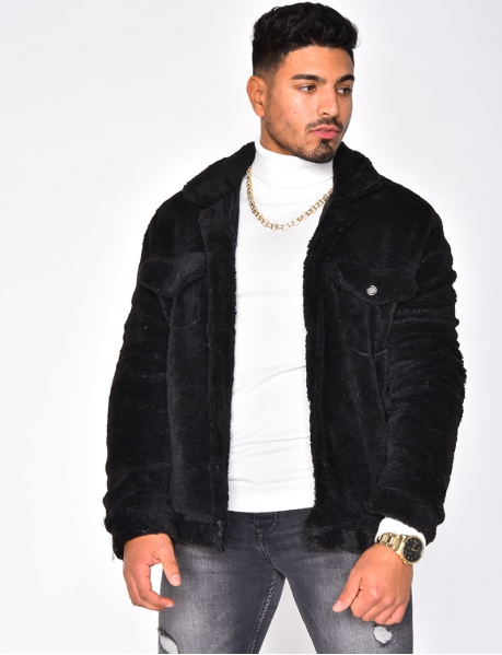 Sheepskin-Style Jacket