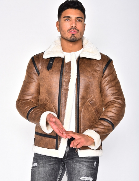 Fur-Lined Bomber Jacket