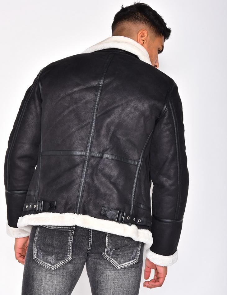 Fur-Lined Bomber Jacket