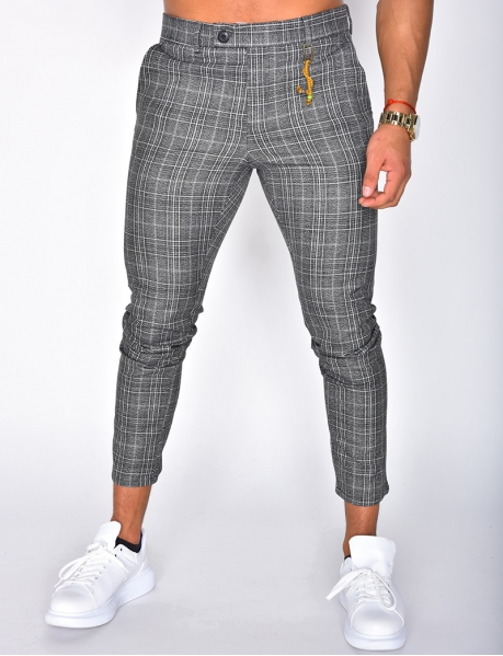 Checked Trousers with Trinket
