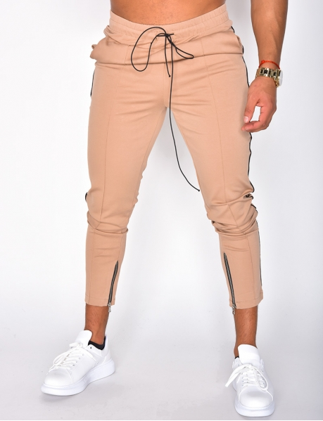 Trousers with Stripes and Zip