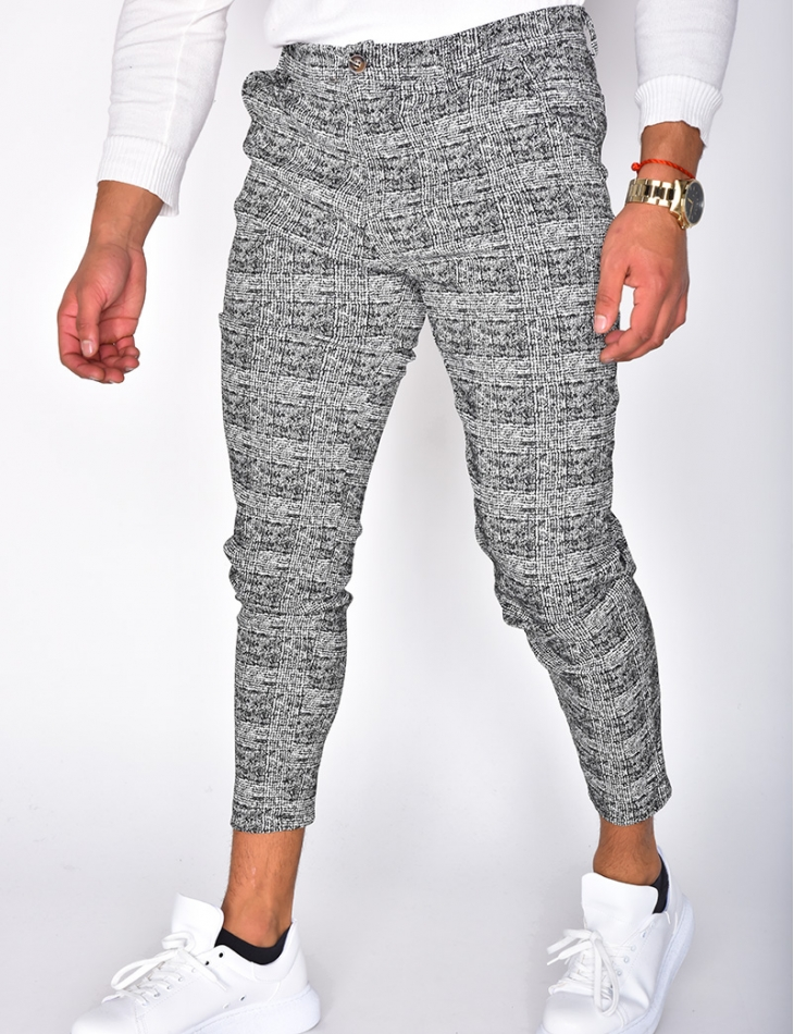 Flecked Checked Trousers