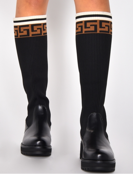 Sock Boots with Pattern