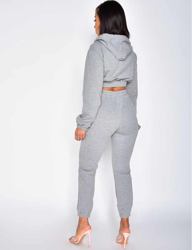 Hooded Sweatshirt and Trousers Outfit