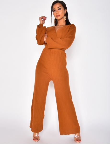 Long Wrapover Jumpsuit