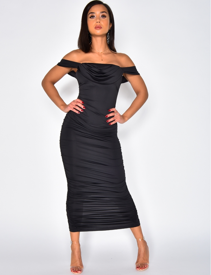 Drape Bodycon Dress