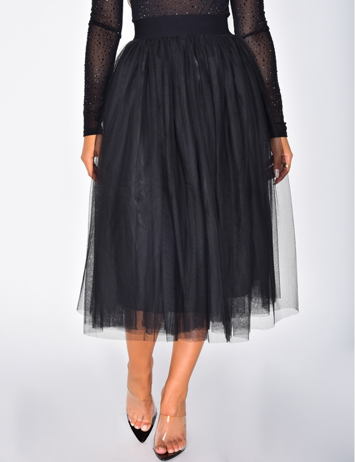 Tulle Mid-Length Skirt