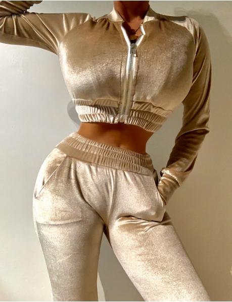 Kombination Hose und Weste aus Samt