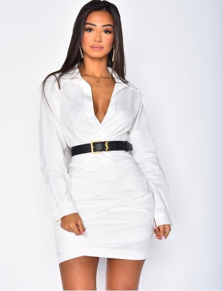 Wrapover Shirt Dress