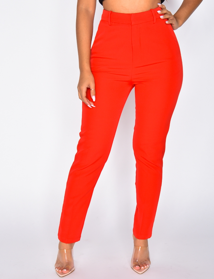 High Waisted Tailored Trousers
