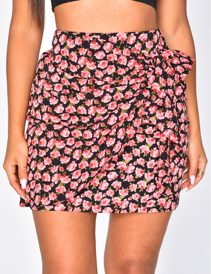 Floral Skirt with Rings