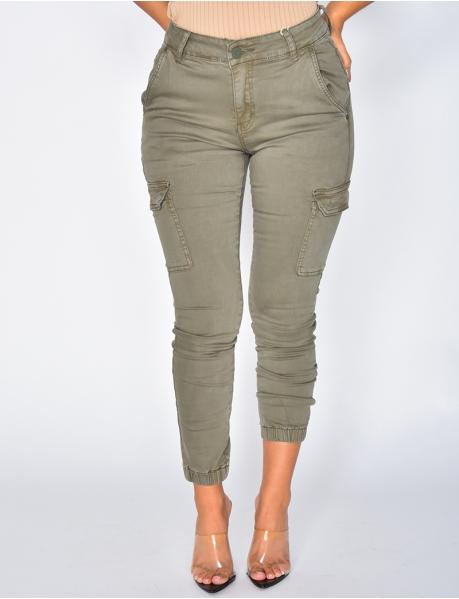 Khaki Cargo Jeans