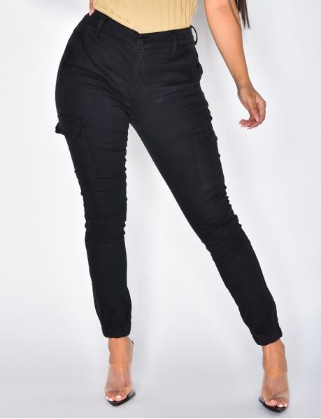 Black Cargo Jeans