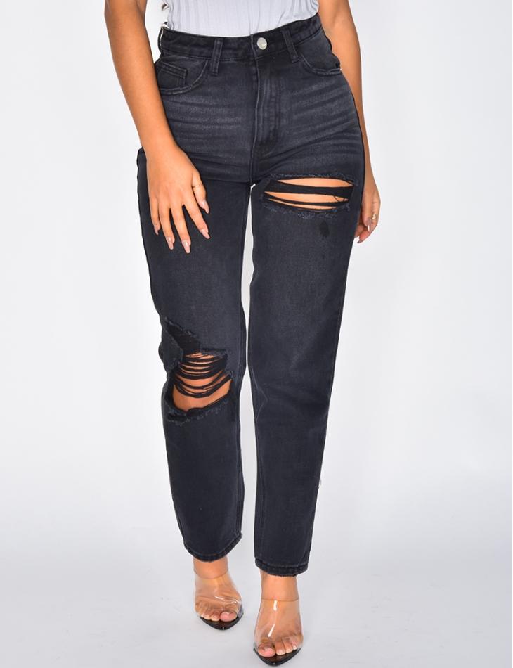 Jeans mom destroy
